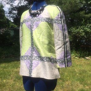 J.Crew Collection Silk pastel floral blouse size 6